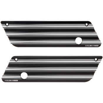 Arlen Ness 10-Gauge Saddlebag Latch Covers for 1993-2013 Harley Touring