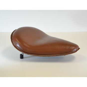 Hardbody Leather Spring Mount Solo Seat - Brown