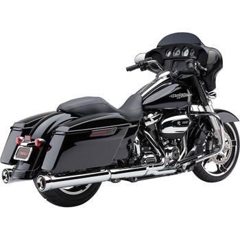 Cobra Neighbor Hater Exhaust Mufflers for 2017-2020 Harley Touring - Chrome