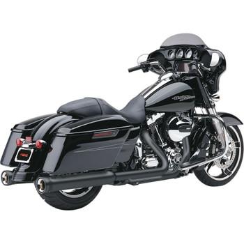 Cobra Neighbor Hater Exhaust Mufflers for 2017-2020 Harley Touring - Raven Black