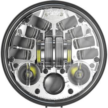 "J.W. Speaker 5.75"" Pedestal Mount LED Adaptive Headlight - Chrome"