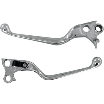 Drag Specialties Chrome Wide Blade Hand Levers for Harley