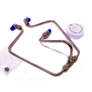 Old-Stf Rocker Box Split Oil Lines for 1966-1984 Harley Shovelhead - Stainless