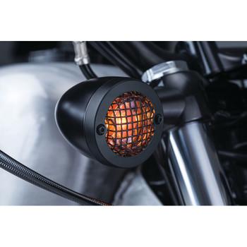 Kuryakyn Mesh Bezels for Harley Bullet Style Turn Signals