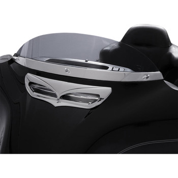 Ciro Windshield Trim for 2014-2020 Harley Touring - Chrome
