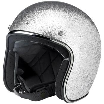 Biltwell Bonanza Helmet - Silver Metal Flake