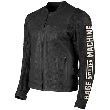 Speed and Strength Rage With the Machine Leather Denim Jacket
