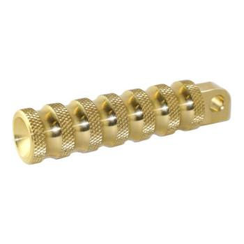 Brass Balls Ribbed Foot Pegs - Brass