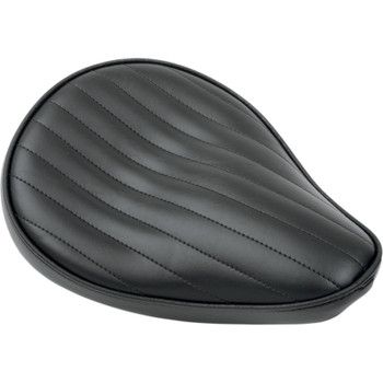 Le Pera Spring-Mounted Solo Seat - Small - Black Pleated