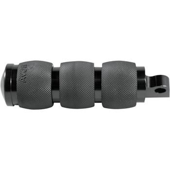 Avon Custom 3-Ring Air Cushioned Foot Pegs for Harley - Black