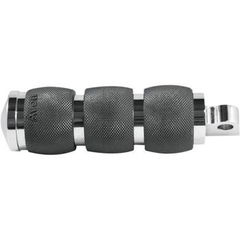 Avon Custom 3-Ring Air Cushioned Foot Pegs for Harley - Chrome