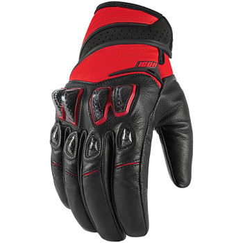Icon Konflict Gloves - Red