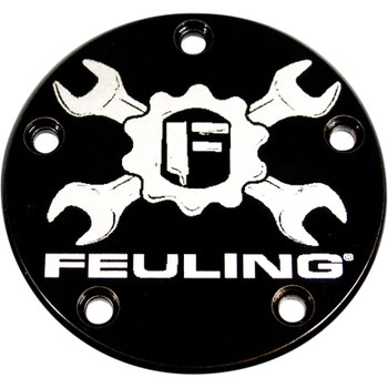 Feuling Gear Cross Logo Points Cover for 1999-2017 Harley Twin Cam