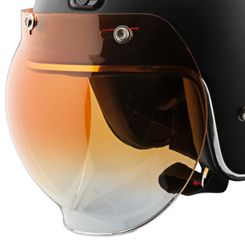 Speed and Strength 3-Snap Universal Bubble Shield - Amber Gradient
