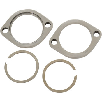 Drag Specialties Exhaust Flange Kit for Harley - Stainless Steel