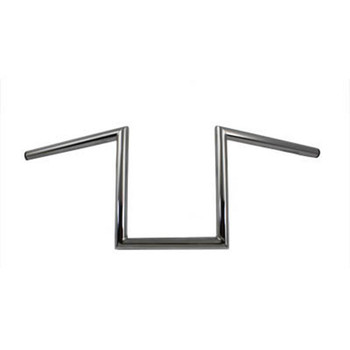 "V-Twin 1"" Chrome 10"" Z-Bars Handlebars - Non-Dimpled"