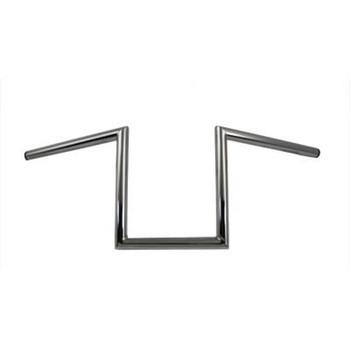 """V-Twin 1"""" Chrome 10"""" Z-Bars Handlebars - Non-Dimpled"""