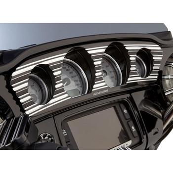 Arlen Ness 10-Gauge Inner Fairing Gauge Trim for 2014-2017 Harley Touring - Black