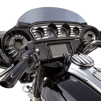 Arlen Ness Deep Cut Inner Fairing Gauge Trim for 2014-2017 Harley Touring - Black