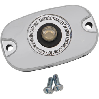 Drag Specialties Rear Brake Master Cylinder Cover for Harley Softail & Dyna
