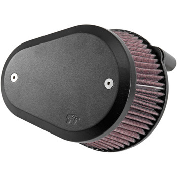 K&N Street Metal Flare Large Capacity Air Cleaner System for Harley - Black