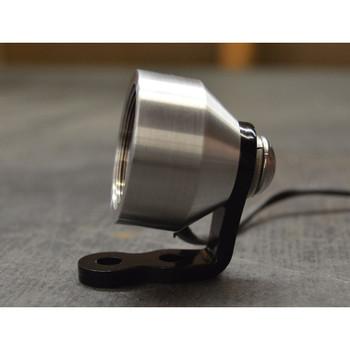 """Prism 1.25"""" Speedster Tail Light - Brushed Aluminum"""