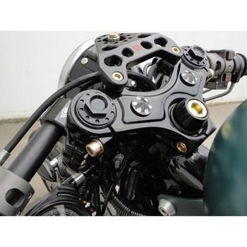 Joker Machine Black Steering Stem Bolt and Trim Collar for Harley