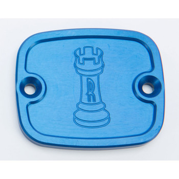 Rooke Customs Front Master Cylinder Cover for 1996-2008 Harley Big Twin - Blue