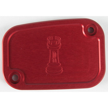 Rooke Customs Front Master Cylinder Cover for 2008-2013 Harley Touring  - Red