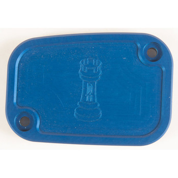 Rooke Customs Front Master Cylinder Cover for 2008-2013 Harley Touring  - Blue