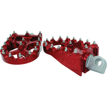 Flo Motorsports Moto Style Foot Pegs for Harley - Red