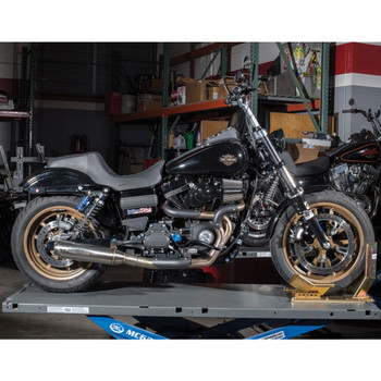 Rooke Customs 2-Into-1 Custom Stainless Exhaust for 2006-2017 Harley Dyna