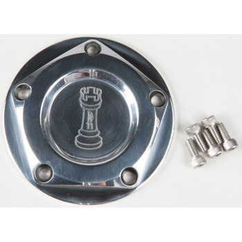 Rooke Customs Ignition Points Covers for Harley Twin Cam - Polished