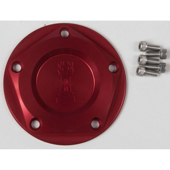 Rooke Customs Ignition Points Covers for Harley Twin Cam - Red