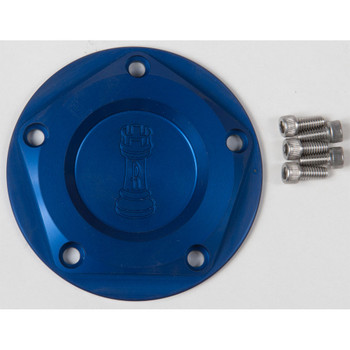 Rooke Customs Ignition Points Covers for Harley Twin Cam - Blue