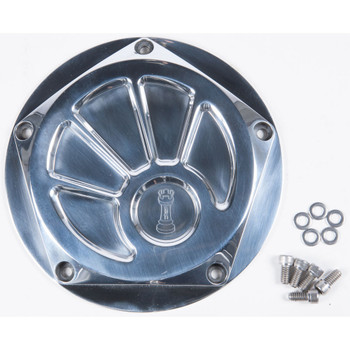 Rooke Customs Derby Cover for Harley Twin Cam - Polished