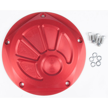 Rooke Customs Derby Cover for Harley Twin Cam - Red