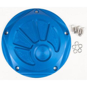 Rooke Customs Derby Cover for Harley Twin Cam - Blue