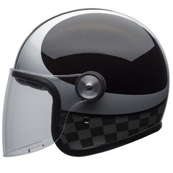 Bell Riot Helmet - Checks Black/Silver