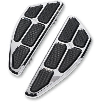 Roland Sands Boss Driver Floorboards for 1980-2019 Harley - Chrome
