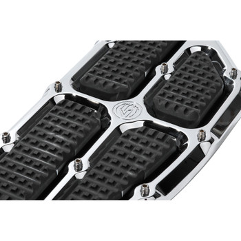 Roland Sands Traction Driver Floorboards for 1980-2019 Harley - Chrome