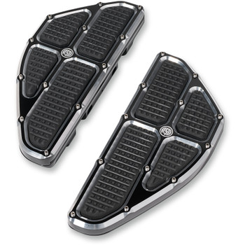 Roland Sands Traction Passenger Floorboards for 1986-2019 Harley - Contrast Cut
