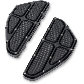 Roland Sands Traction Passenger Floorboards for 1986-2019 Harley - Black Ops