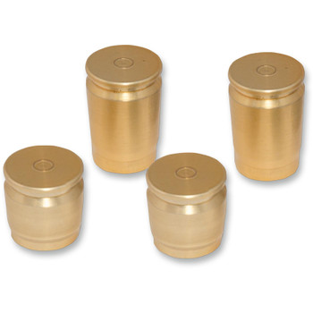 Pro Pad Brass Shell Casing Billet Docking Station Covers for Harley - 4-pc.