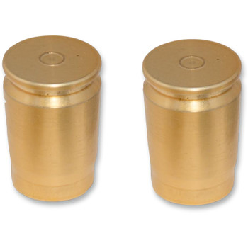 Pro Pad Brass Shell Casing Billet Docking Station Covers for Harley - 2-pc. Long