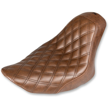 Saddlemen Renegade LS Solo Seat for 2006-2017 Harley Softail FXST/FLSTF - Brown