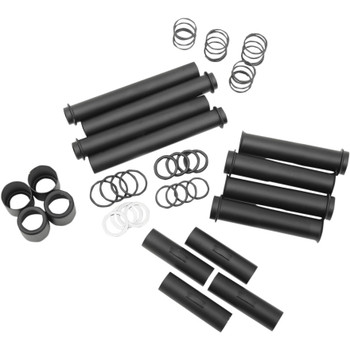 Drag Specialties Satin Black Pushrod Tube Kit