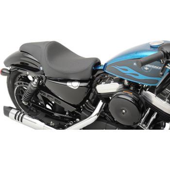 Drag Specialties Caballero Seat for 2004-2017 Harley Sportster - Basket Weave