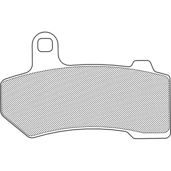 Drag Specialties Brake Pads - Repl. OEM 41854-08, 42897-06A/08, 42850-06B - Sintered Metal