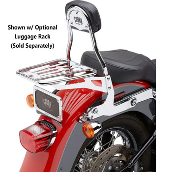 Cobra Detachable Backrest Kit for Harley Softail - Chrome